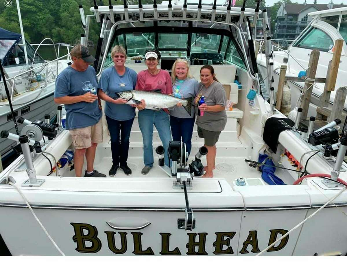 Captain Stacy Petersonand his team of ladies caught the biggest finish of the tournament, a29.55 pound king salmon. (Courtesy photo)