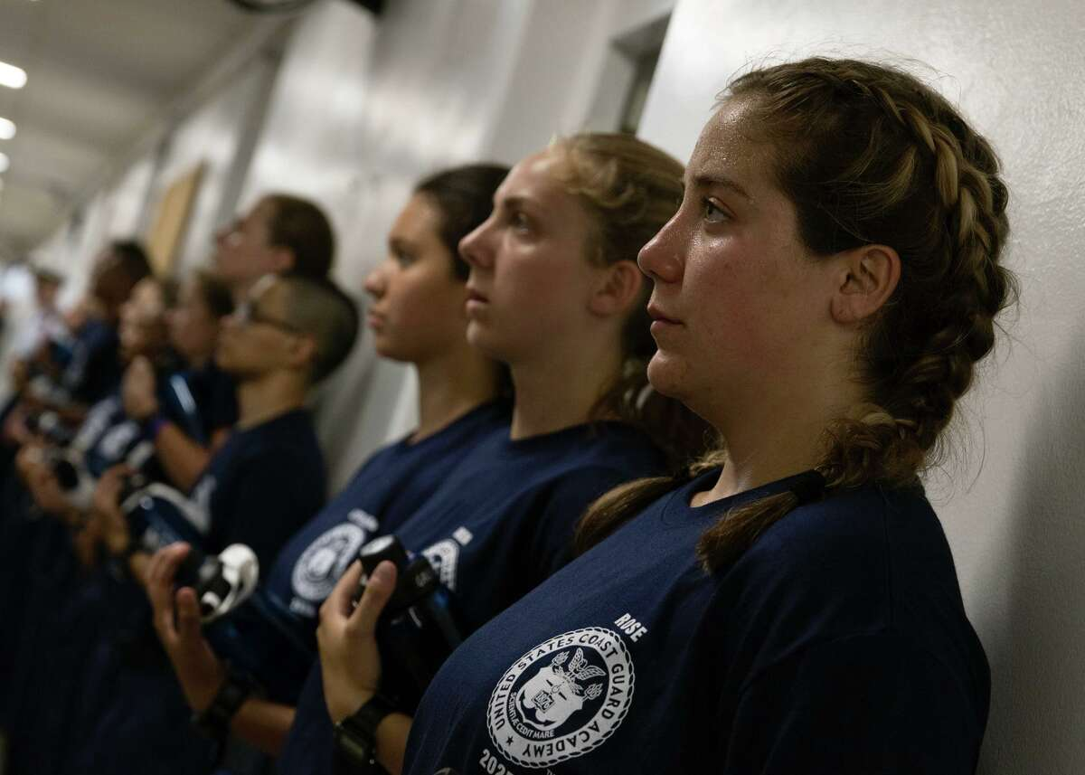 Nearly 300 new cadets join the U.S. Coast Guard Academy Monday in New London. The first day marks the start of swab summer, an intensive seven-week program that prepares students for military and academy life.