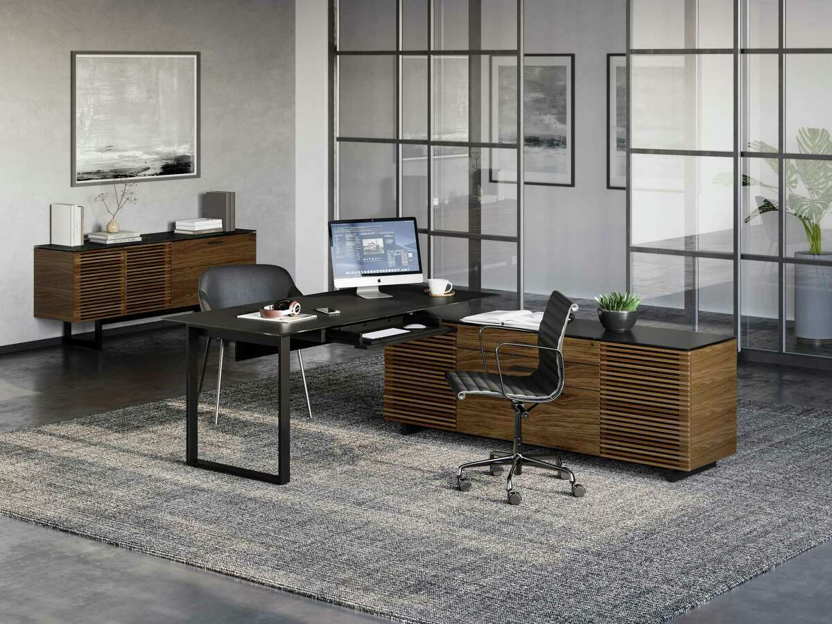 As the home office has gained importance, BDI is introducing the Corridor L-Desk Model 6531 at High Point Furniture Market Spring 2021. Matthew Weatherly's new desk adds to the award-winning Corridor collection. The cabinet can be assembled on the left or right side of the desk. $3,499 at www.bdiusa.com.