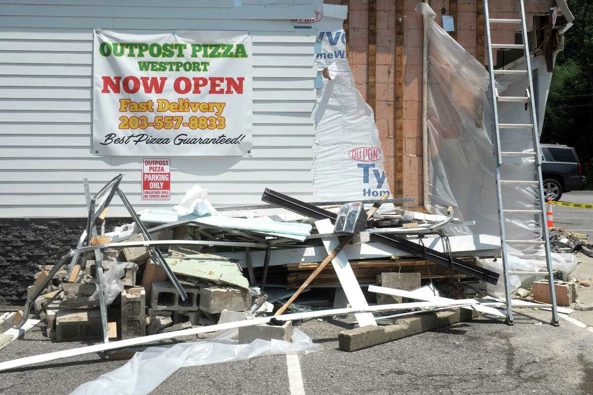 Outpost Pizza in Westport on Monday.