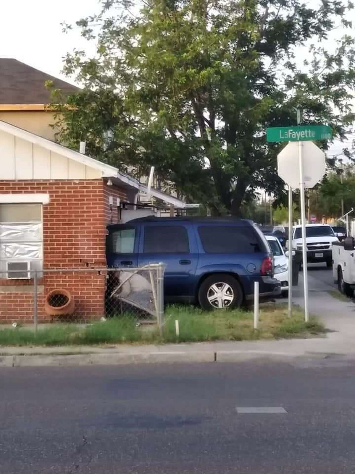 A vehicle crashed into a home in the 1500 block of Lafayette Street. A child was taken to the hospital as a precautionary measure.