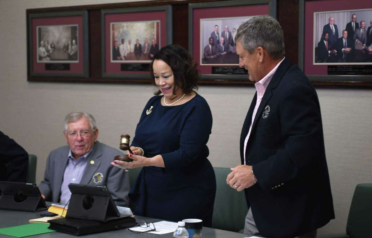 After almost two decades of service as a port commissioner, Georgine Guillory has been named as the first female president of the Port of Beaumont's Board of Commissioners. Photo taken June 28, 2021 by Guiseppe Barranco.