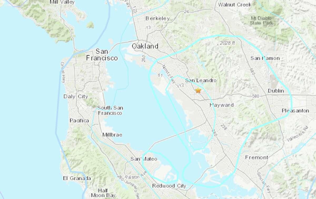 A magnitude 4.1 earthquake shook the San Francisco Bay Area Monday evening.