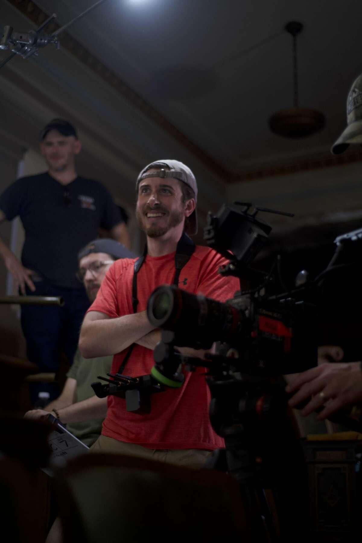 "Director Joe Gietl on set filming ""A Void."" (Photo by Rueben Van Hoeve)"