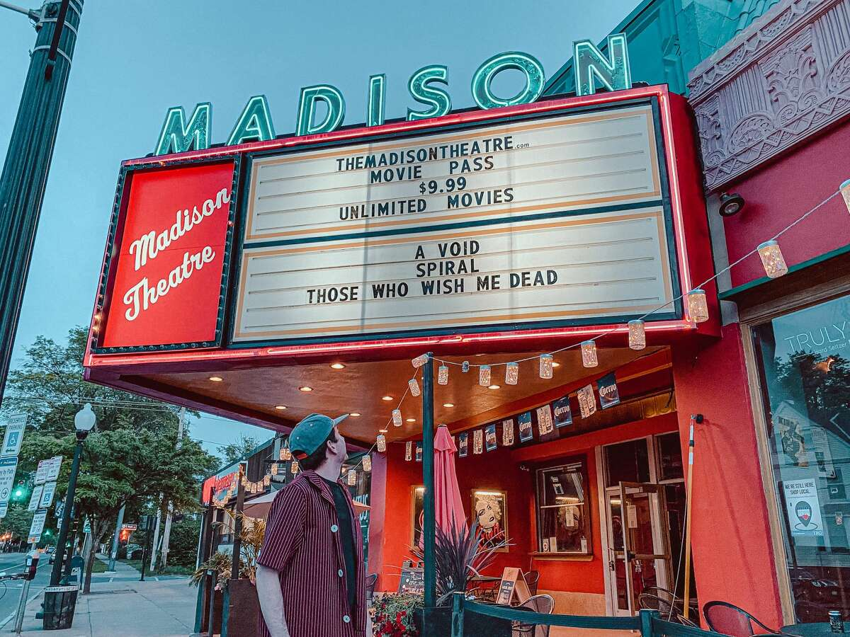 Director Joe Gietl outside the newly renovated Madison Theatre. (Photo by Leigh Ward)