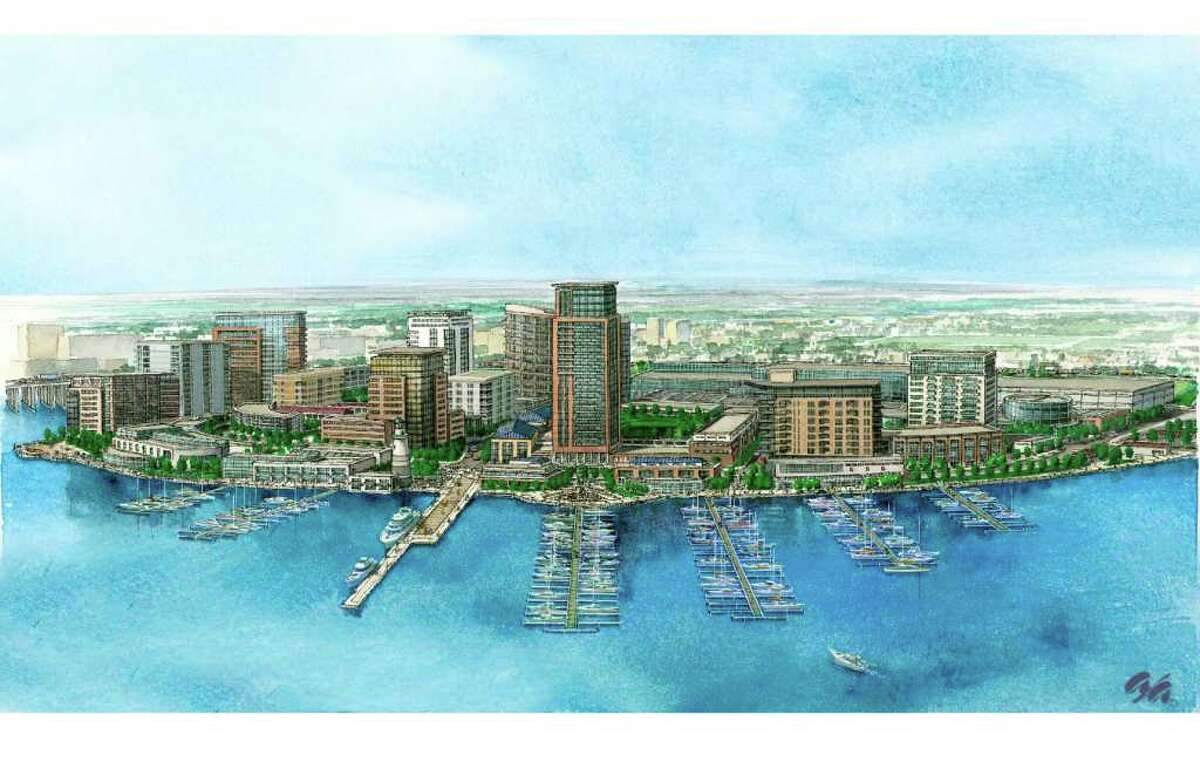 2006 contributed artist rendering of Midtown Equities plan for Steel Point in Bridgeport CT