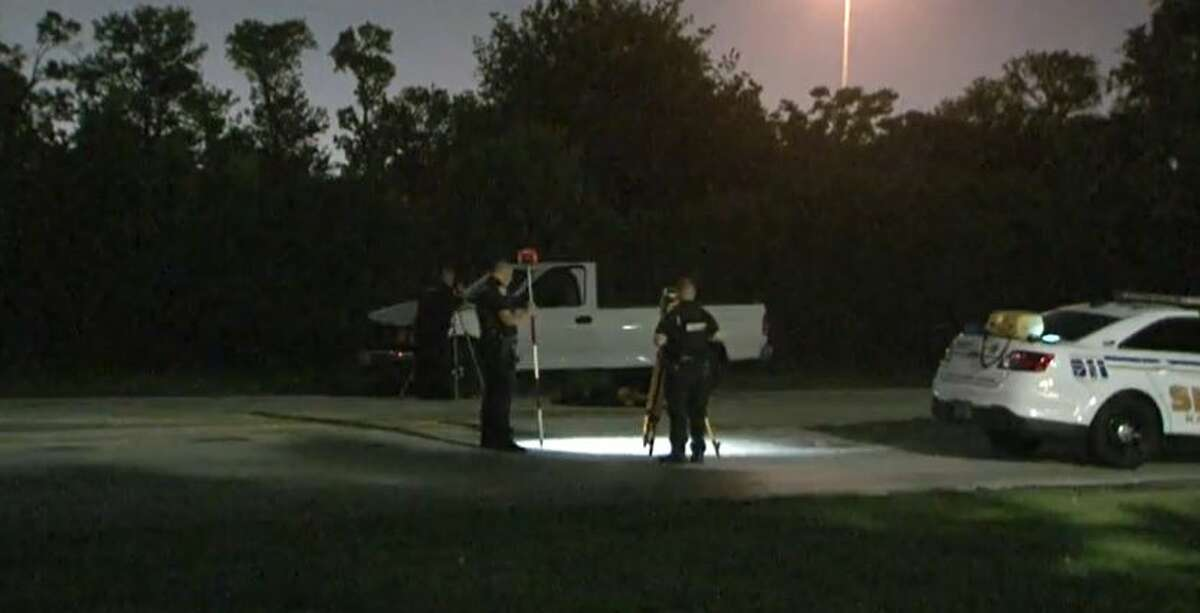 The Harris County Sheriff's Office investigates an early Tuesday fatal bicyclist vs. auto crash on W. Little York Road.
