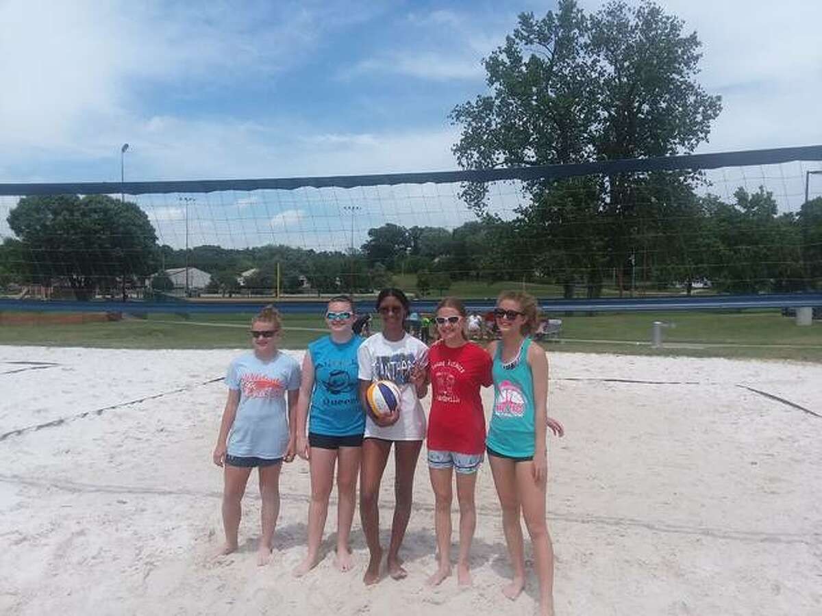 The Cobras won first place in the 14U Edwardsville Parks and Recreation Sand Volleyball Tournament Saturday. The Cobras from left to right: Kaya G., Rory J., Ciara C., Colette W. and Kacey W.