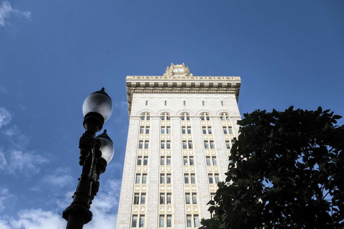 The incident took place outside of Oakland City Hall.