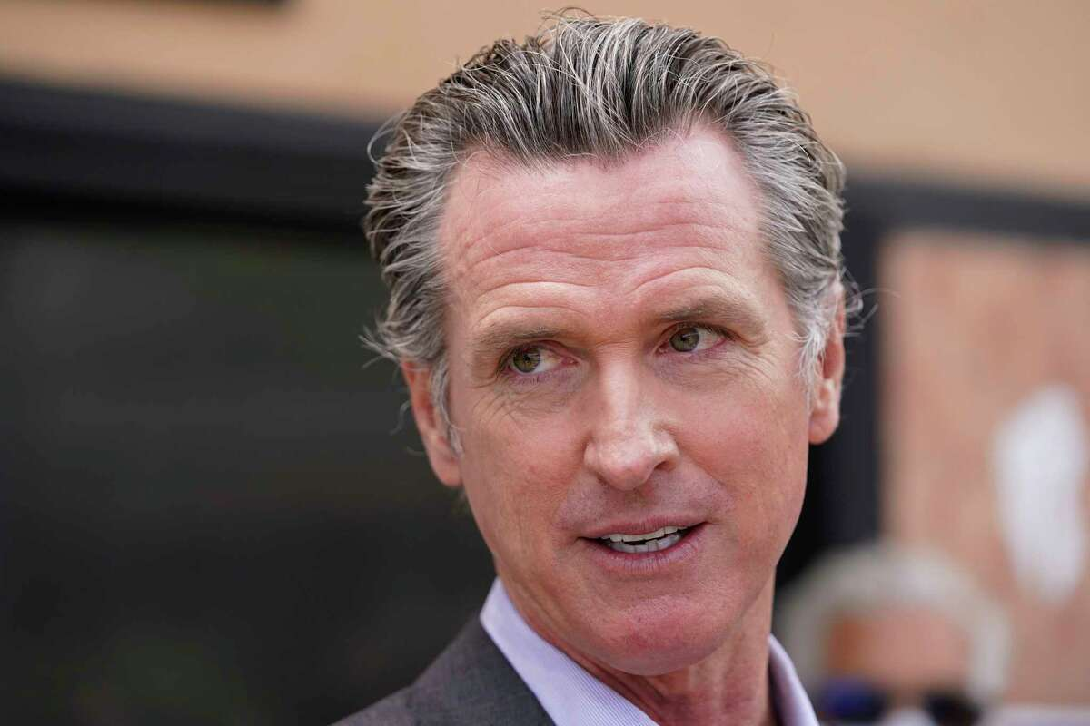 FILE - In this June 3, 2021, file photo California Gov. Gavin Newsom listens to questions during a news conference in San Francisco.