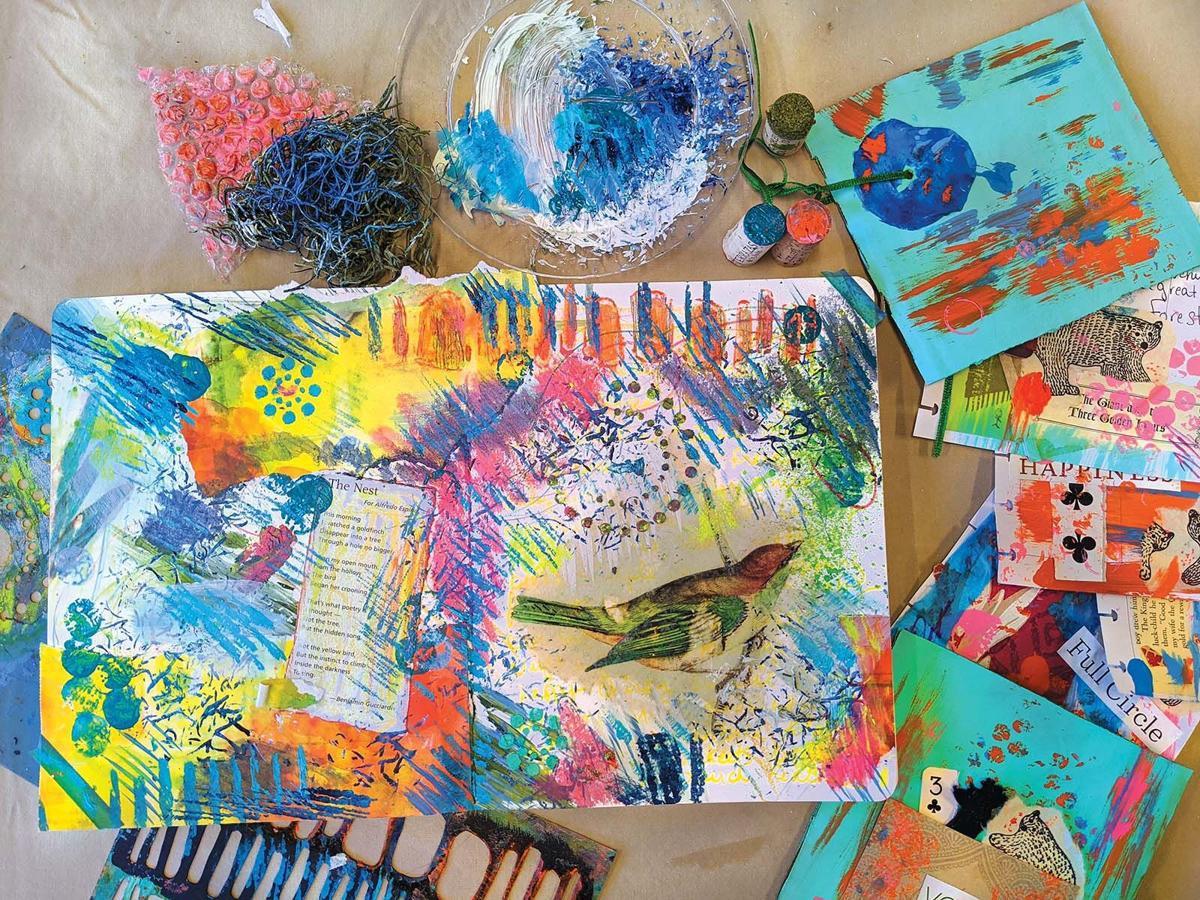 Connecticut artist explains 'art journaling'