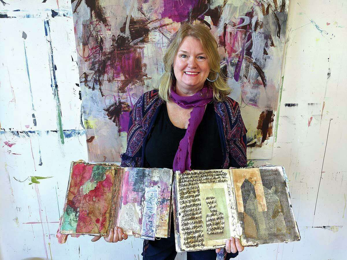 """""""Art journaling is a way to have a visual dialogue with yourself,"""" says Heather Neilson. """"It is a personal expression and can help open up your creative intuition."""""""