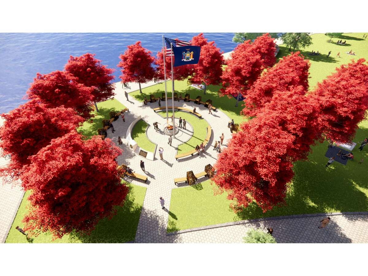"""Gov. Andrew M. Cuomo announced the """"Circle of Heroes"""" monument for Battery Park in Manhattan, as a tribute to essential workers during the COVID-19 pandemic. It has faced opposition from local residents and politicians."""