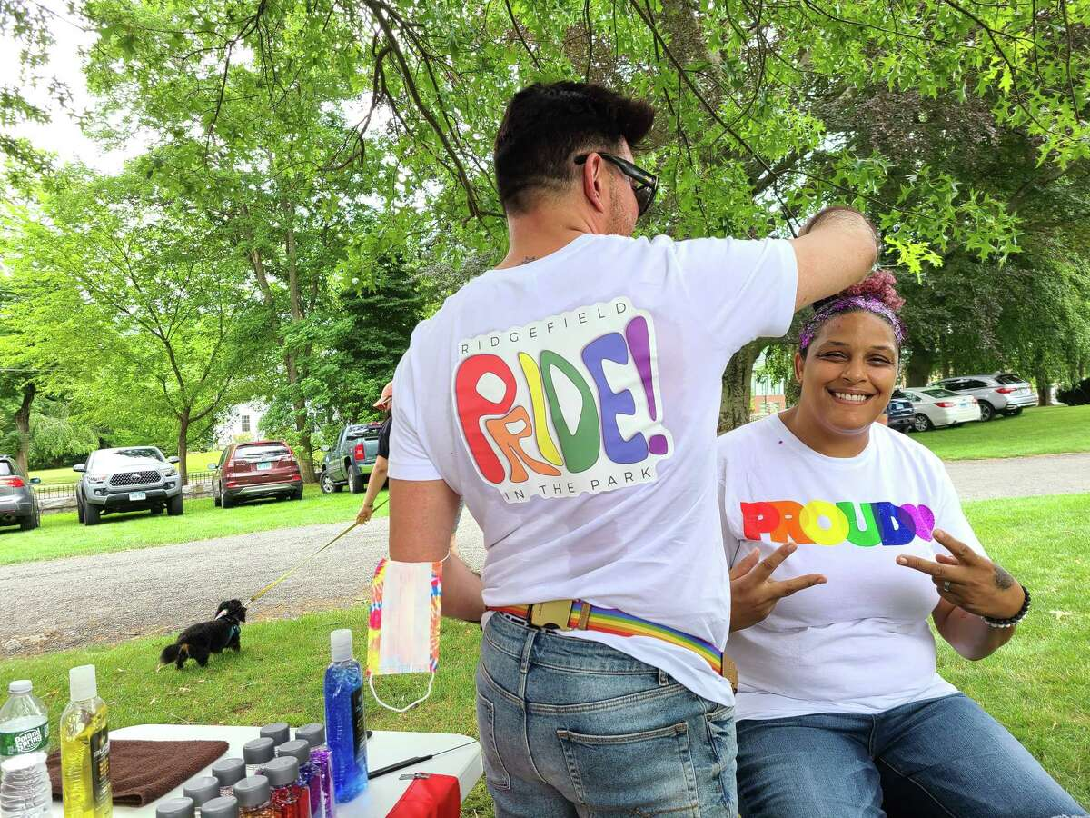 Adam Broderick Salon and Spa's hair flair station was a huge hit during Ridgefield's Pride in the Park, which took place on June 26 at Ballard Park.