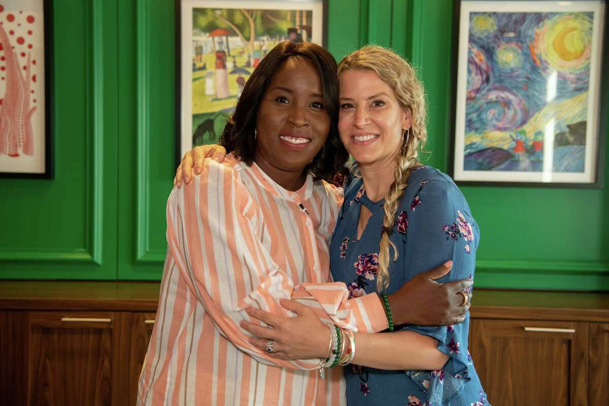 Tia Wimbush, left, and Susan Ellis, two months after they each donated a kidney to the other's husband.