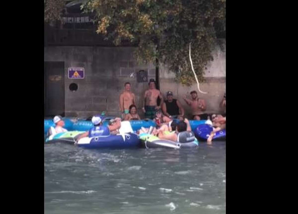 A jokester used a fake snake to scare folks tubing along the Comal River.