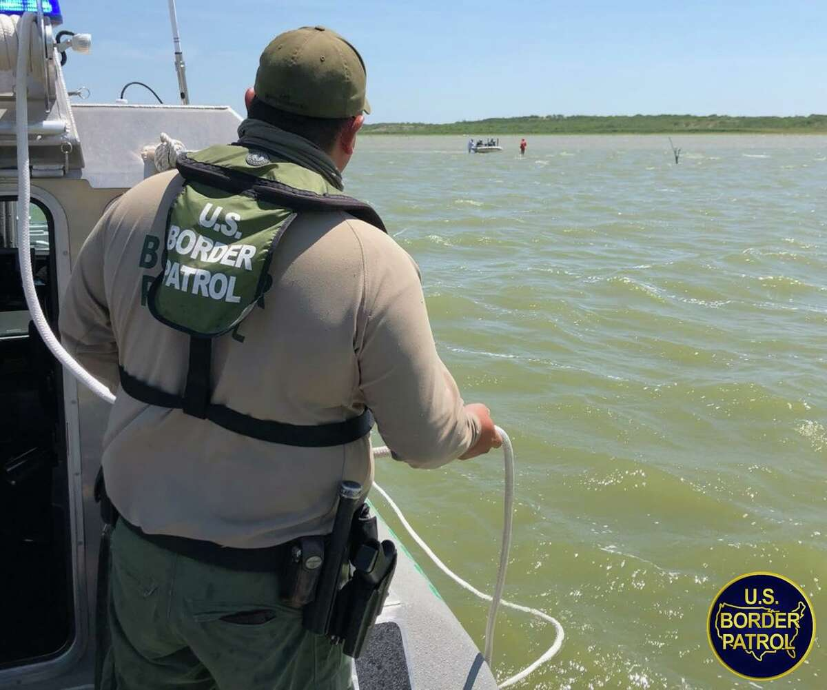 U.S. Border Patrol agents rescued two fishermen whose boat got stranded at Falcon Lake. No injuries were reported.