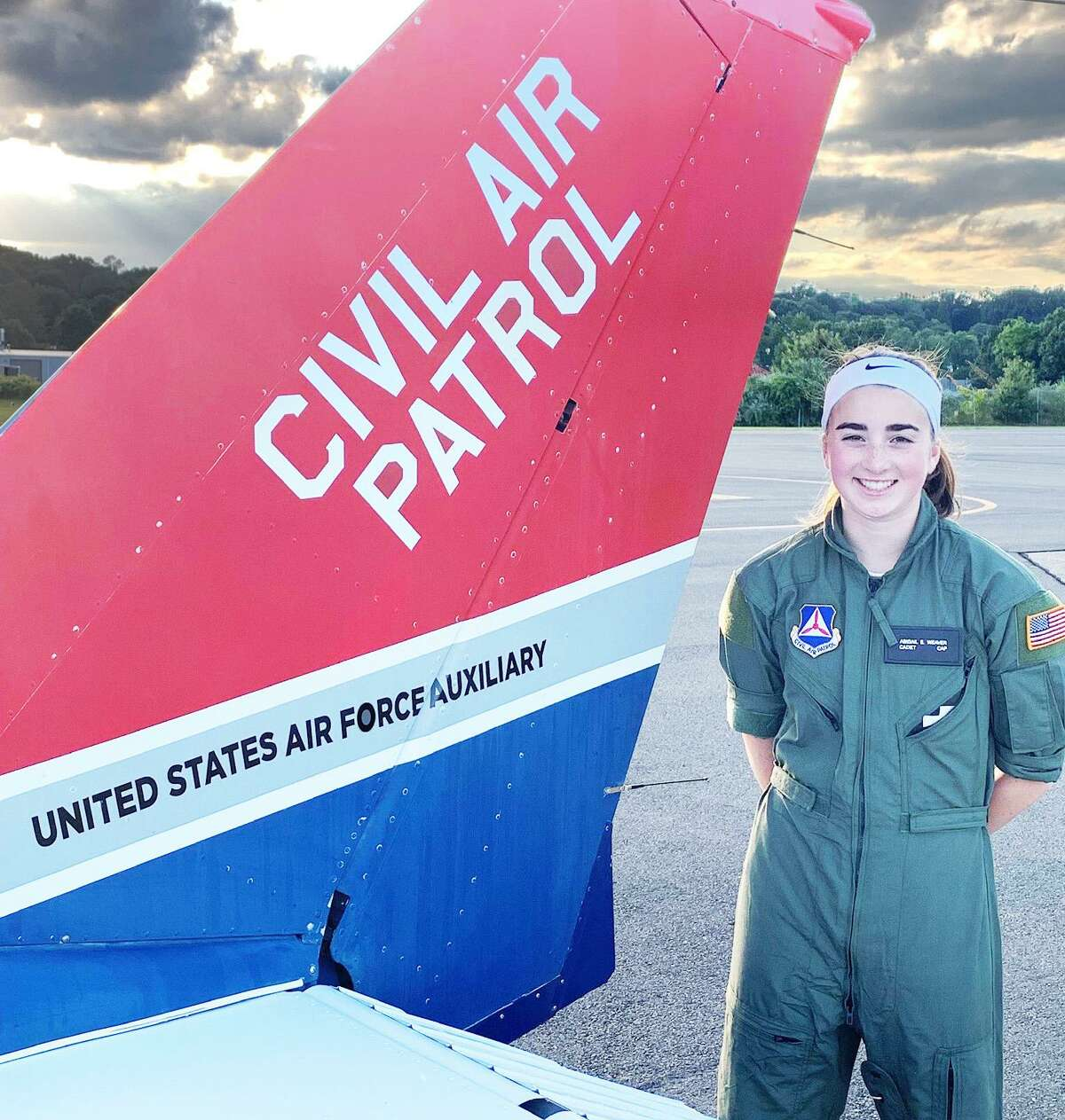 Mercy High School graduate Cadet Second Lt. Abigail Weaver of Southington has wanted to be a pilot since she was a child.