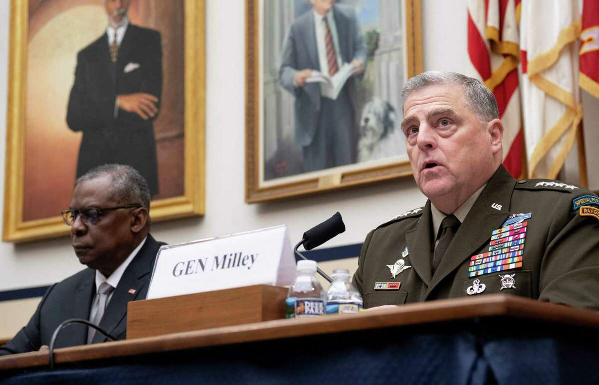 """Fox News' Tucker Carlson called Gen. Mark Milley, the chairman of the Joint Chiefs of Staff, """"not just a pig, he's stupid"""" after Milley told a congressional hearing that he considered it important """"for those of us in uniform to be open-minded and widely read."""""""
