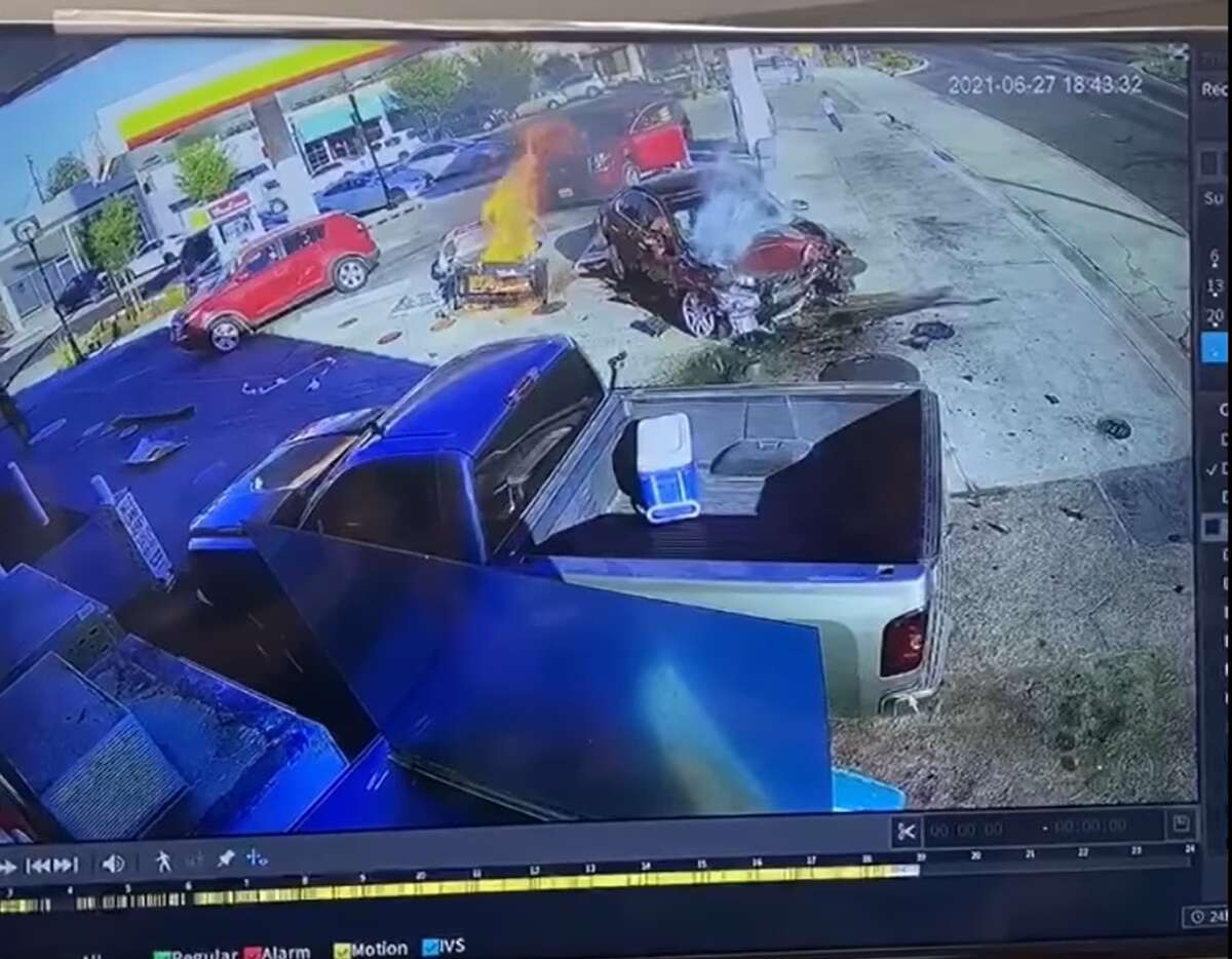 The crash took place Sunday afternoon.