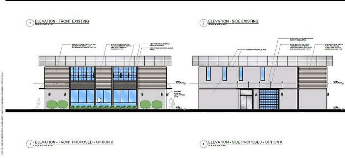 A rendering for the proposed brewpub at 4 Danbury Road by architect Pierre-Christian Frye
