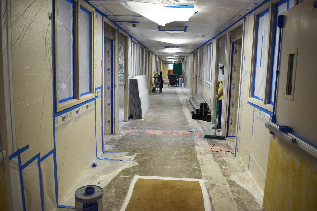 When construction at Covenant Health Plainview resumes, work will first be focused on second-floor patient rooms, the hospital lobby and kitchen.