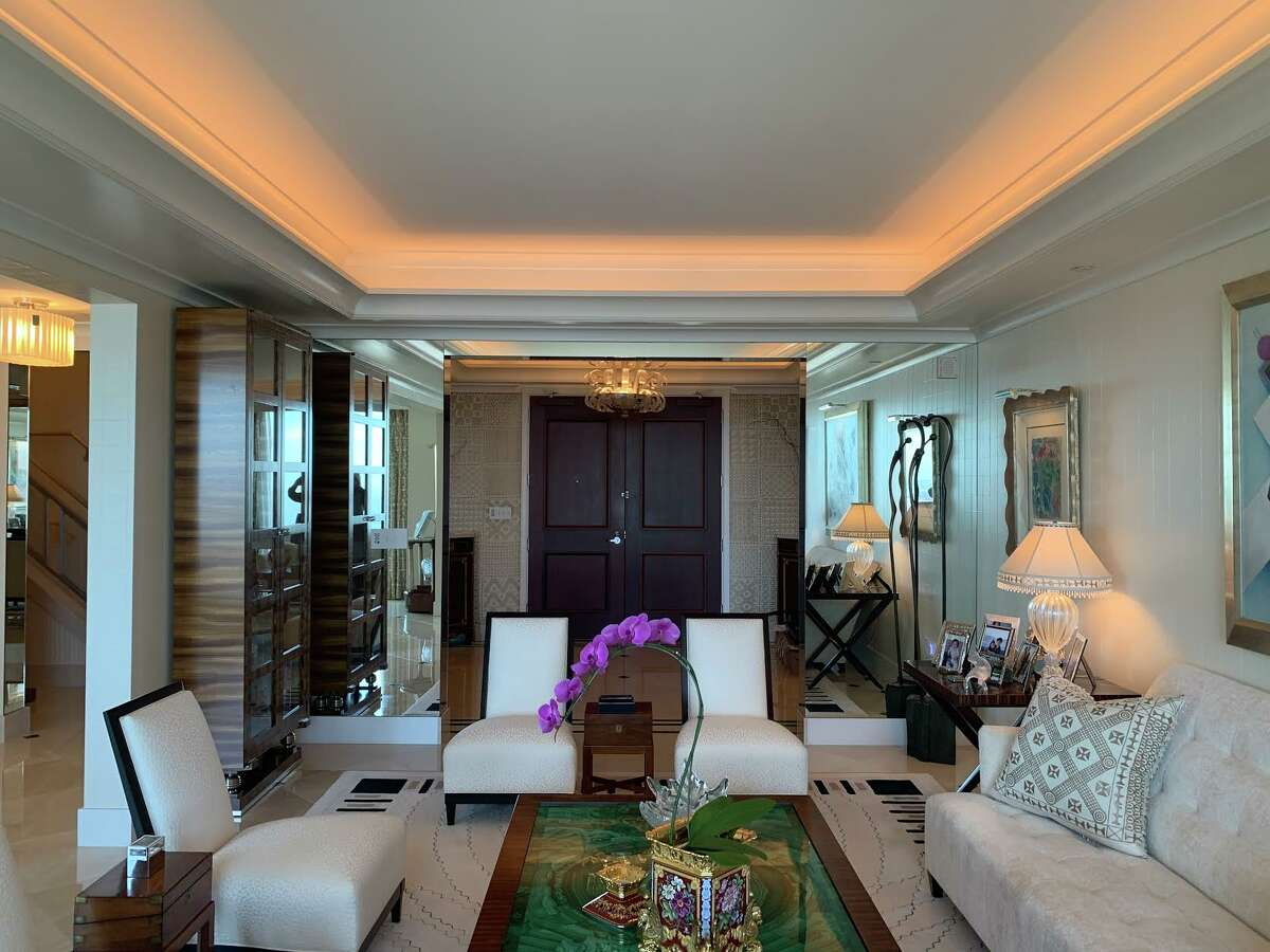 """""""The home is a masterpiece of design choices and finishes, while feeling comfortable and welcoming at the same time,"""" said listing agentFones, who added that her clients bought the unit directly from the developer, which allowed for a lot of flexibility in design."""