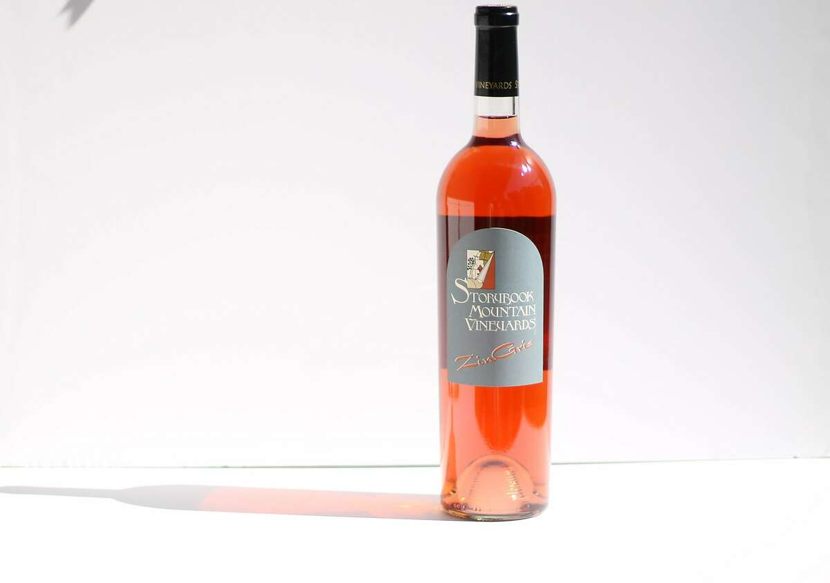 Storybook Mountain Vineyards Zin Gris, a darkly colored rose of Zinfandel from Napa Valley.