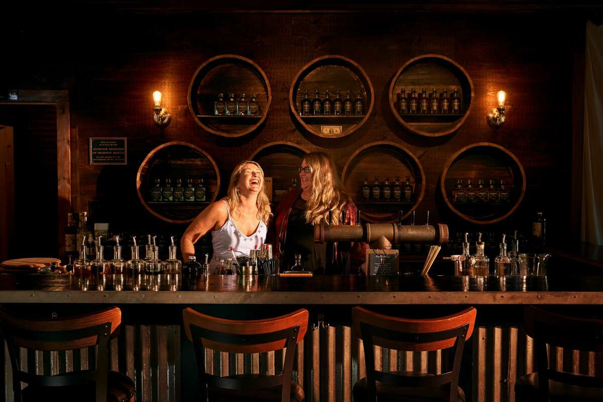 """""""A women-owned distillery is unique, and it's important to share that with people,"""" says Louise Newsome (left). Together with her daughter Sophie (right), they own a majority share of Cooper's Daughter Spirits; their husbands are also part owners."""