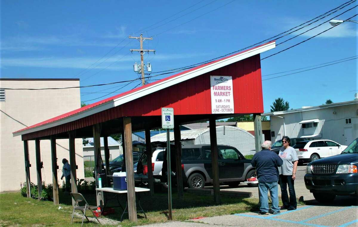 The Reed City Chamber of Commerce has proposed moving the local farmers market from this location on Chestnut Street to the Depot. (Pioneer file photo)