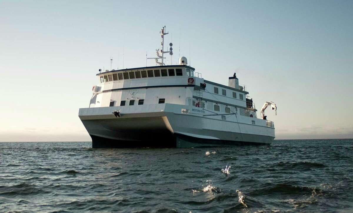 The Monterey Bay Aquarium Research Institute's research vessel Western Flyer, photographed in Monterey Bay in 2013, will present a live stream Wednesday of video captured on the ocean floor at Sur Ridge.