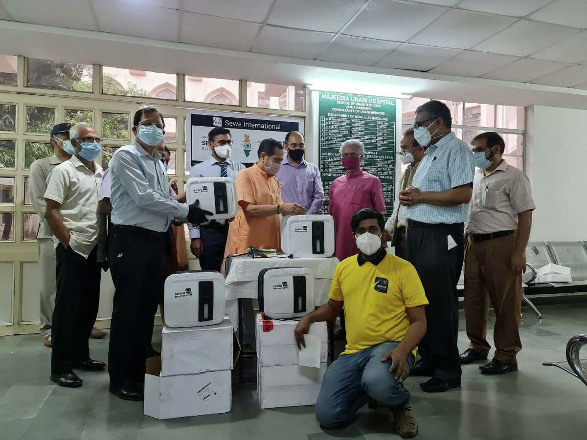 Sewa volunteers worked from the primary hub in New Delhi, where they received the supplies sent from the US and other countries.