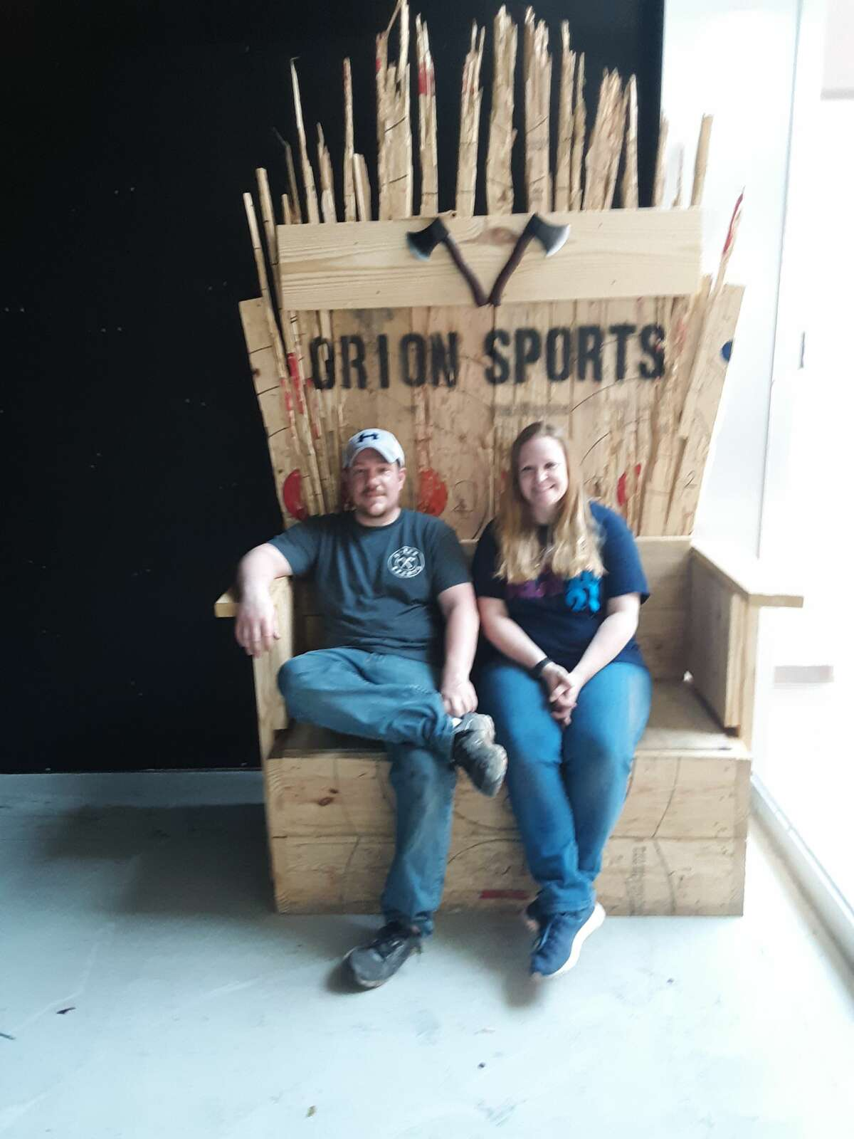 Orion Sports owner Duane Novak and his wife, Tara Novak, have been busy over the past week preparing for the business to reopen in a much larger space in the Midland Mall.