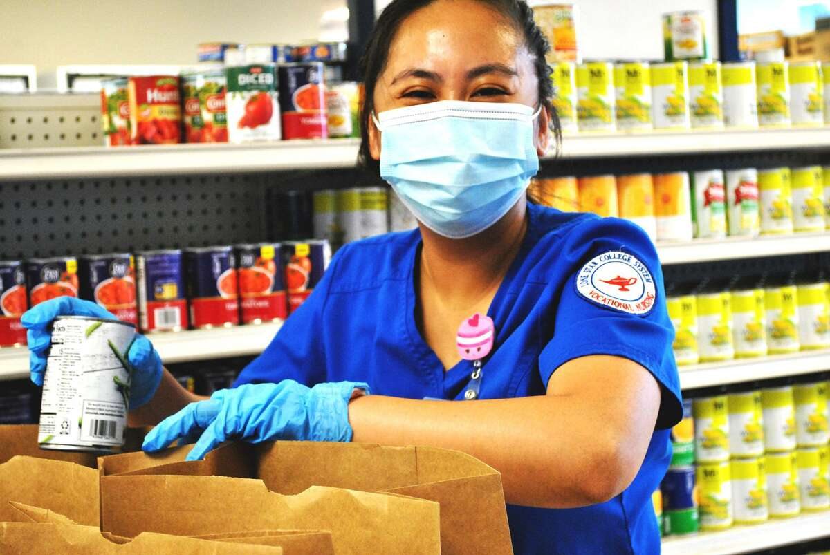 Northwest Assistance Ministries received help in their pantry from the Lone Star College Student Nurse Association - Montgomery.