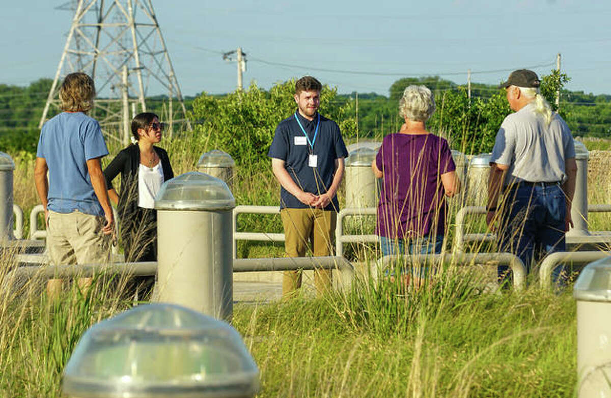 NGRREC's next Neighbor Nights event will focus on its interns, such as summer interns Julia Ringhausen, left, and Joseph Olmsted, center, speaking at a June 15 event. For more information, visit www.ngrrec.org/neighbor_nights.