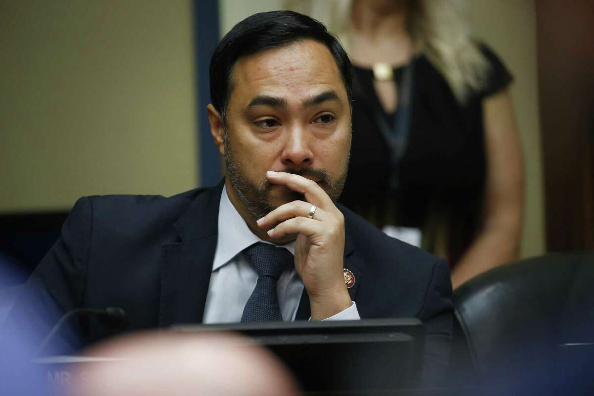 Representative Joaquin Castro, a Democrat from Texas, listens during a House Intelligence Committee hearing with Joseph Maguire, acting director of national intelligence, in Washington, D.C., U.S., on Thursday, Sept. 26, 2019. Maguire, who delayed giving Congress a whistle-blower complaint about President Donald Trump, will testify about the complaint which details Trump's request that the president of Ukraine investigate former Vice President Joe Biden and his son Hunter. Photographer: Andrew Harrer/Bloomberg