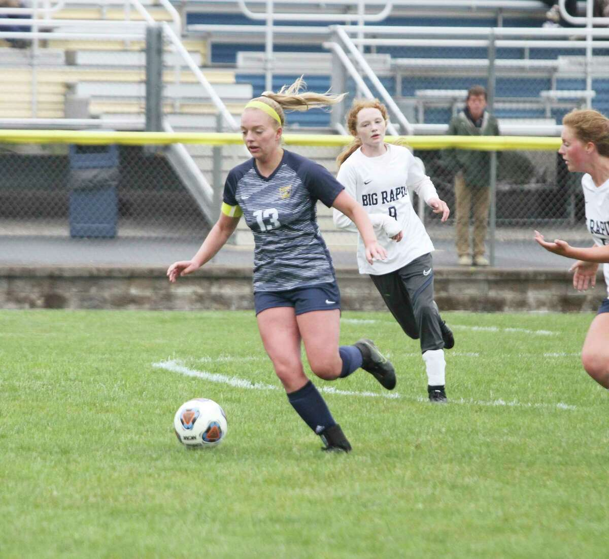 Olivia Smith earned second team all-conference honors while playing midfielder for Manistee. (News Advocate file photo)