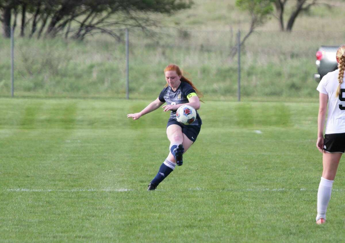 Alora Sundbeck led Manistee's back line and finished first team all-conference in girls soccer. (News Advocate file photo)