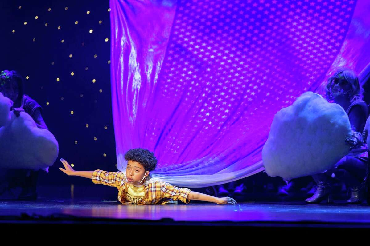 Jaxon Daniel from Inspiration Stage performs in The Big One-Oh! JR. on Saturday, June 26, at the 2021 Junior Theater Festival Texas at Smart Financial Centre in Sugar Land.