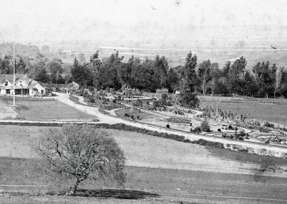 The Burdell Garden, circa 1874.