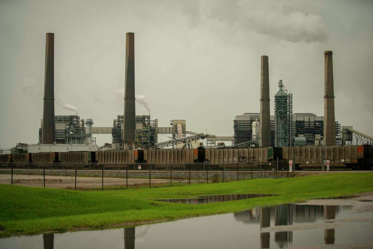 The WA Parish Generating Station uses coal to generate electricity, Tuesday, June 29, 2021, outside of Richmond in Fort Bend County.