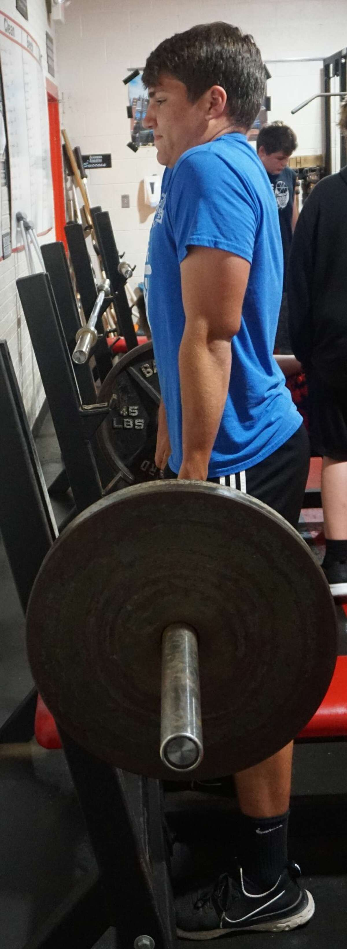 Various members of the Reed City football program have been building their strength for the upcoming season with summer weight-lifting sessions.