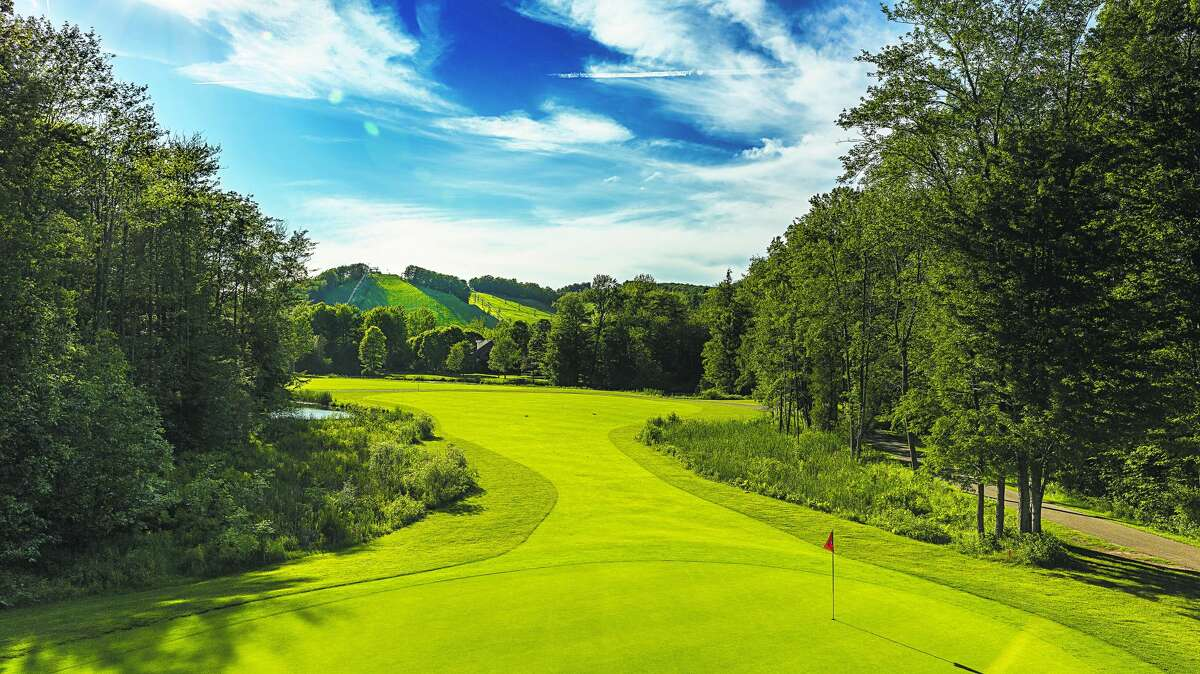 Work is being done at Crystal Mountain this summer on the Betsie Valley course.