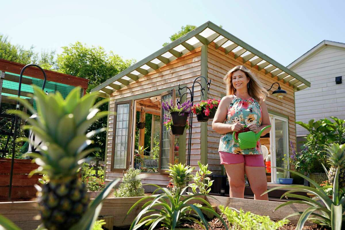 Pam Cortes and her greenhouse, built by her husband, Luis Cortes. When work and life slowed down during the coronavirus pandemic, Pam Cortes took up gardening at her Richmond home.