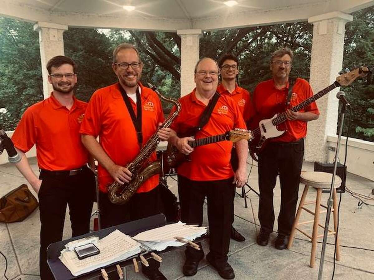 The Alton Municipal Band jazz ensemble under the gazebo at Riverview Park in Alton. A brass ensemble will perform at Thursday's Concerts in the Park series concert.