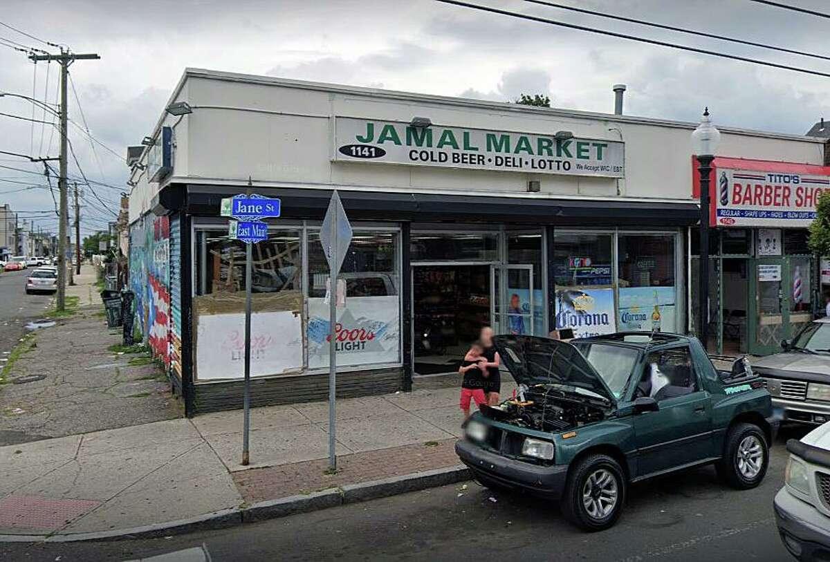 Jamal Market on East Main Street in Bridgeport, Conn., from Google Streetview.