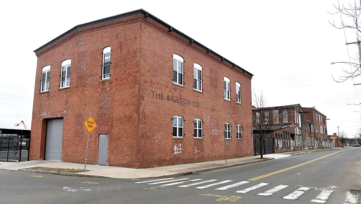 A section of the former Bigelow Boiler Co. on River Street in New Haven that was renovated by the Capasso Restoration Corp.