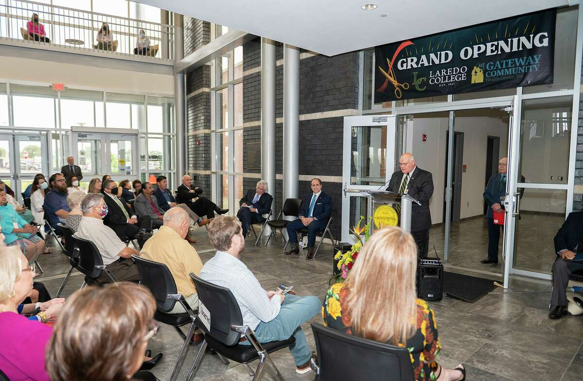 Gateway Community Health Center CEO Elmo Lopez speaks, Tuesday, June 29, 2021, during Laredo College's Grand Opening Ceremony of the College of Health Sciences located at the South Campus.