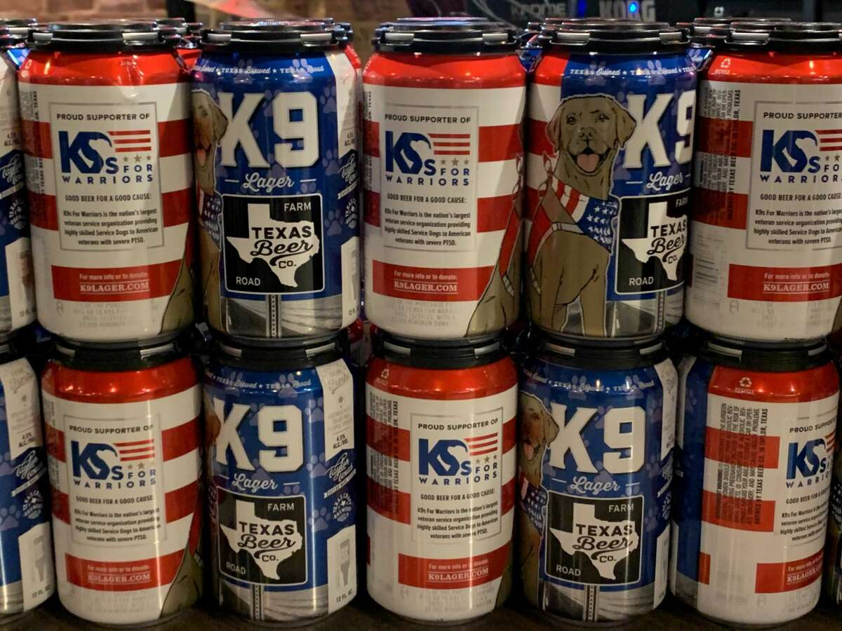"""Texas Beer Company's latest collaboration, the """"K9 Lager"""""""