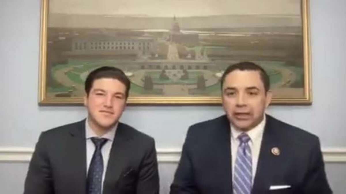 Nuevo Leon's Governor-elect Samuel Garcia is pictured with Laredo's Rep. Henry Cuellar in Washington D.C. on Tuesday.